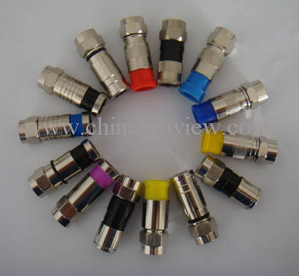 F Connector waterproof for RG58,RG59,RG6,RG11