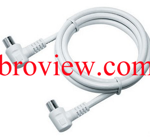 3C2V CABLE,9.5MM PLUG (RIGHT ANGLED)TO 9.5MM PLUG RIGHT ANGLED
