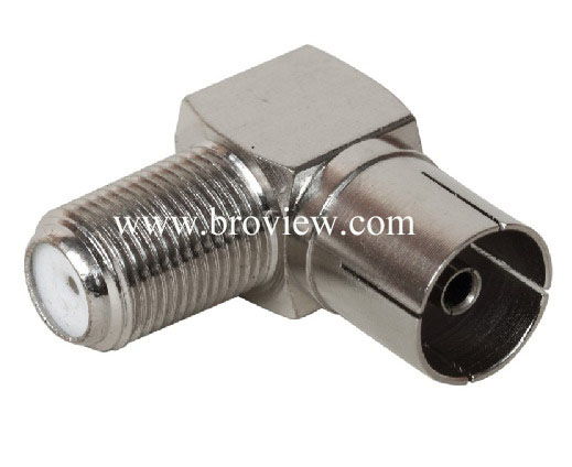 RIGHT ANGLE PAL FEMALE TO F FEMALE CONNECTOR