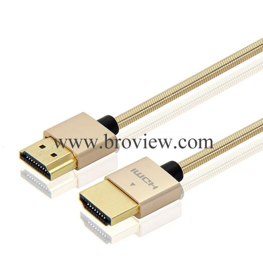 Ultra-thin Slim HDMI Cable with RedMere, 2.0 4K with 3D 2160p Audio Return Channel